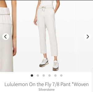 NWT LULULEMON On the Fly 7/8 WL Pant Woven Size 8